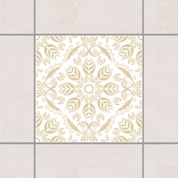 Produktfoto Fliesenaufkleber - Rosamunde White Light Brown 10x10 cm - Fliesensticker Set Braun