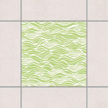 Produktfoto Fliesenaufkleber - Sie träumten von zarten Wellen am Meer Spring Green 10x10 cm Grün