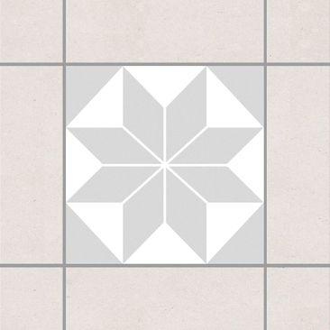 Produktfoto Fliesenaufkleber - Sternenmuster Light Gray 10x10 cm - Fliesensticker Set