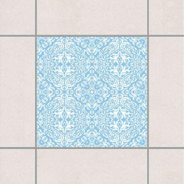 Produktfoto Fliesenaufkleber - Time Curls By Light Blue 10x10 cm - Fliesensticker Set Blau