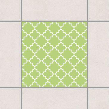 Produktfoto Fliesenaufkleber - Traditional Quatrefoil Spring Green 10x10 cm - Fliesensticker Set