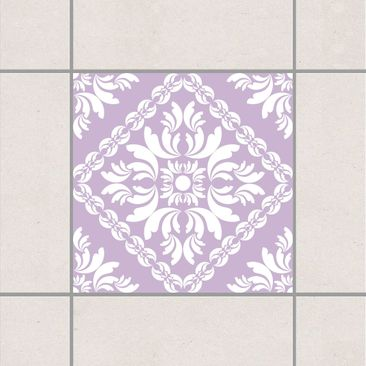 Product picture Tile Sticker - Vera Rosa Lavender 10cm x...