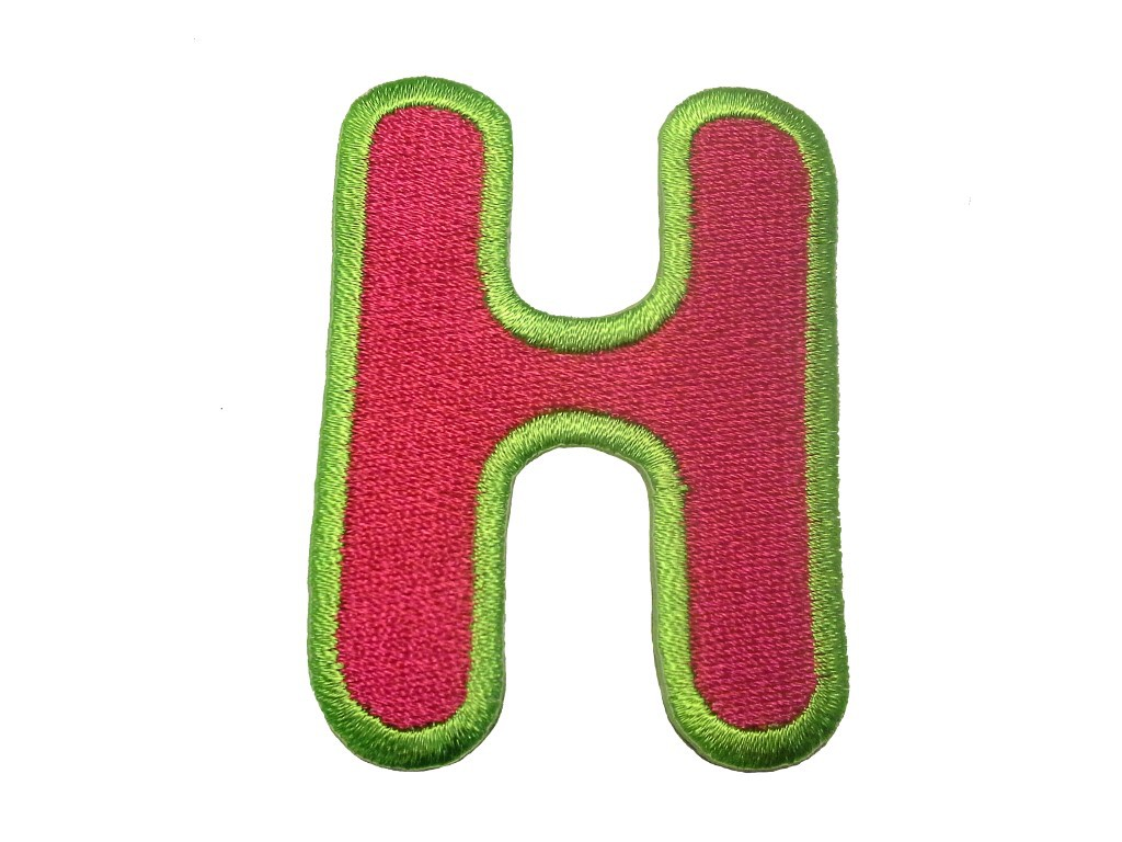 embroidered letter patches embroidered iron on patch alphabet letter pink complete 21477