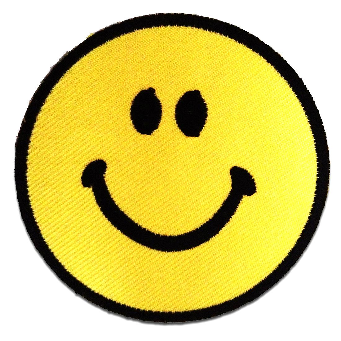 /'Smiley Aufnäher Patch /'/'/'/'/'/'7,5 x 7,5 cm/'/'/'/' Patches Aufbügeln/'