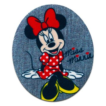 7,5x7,5cm pink Minnie Mouse seated wings Disney Iron on patches