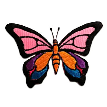 butterfly Iron on patches Application Embroided badges 8,9x6,5 colorful