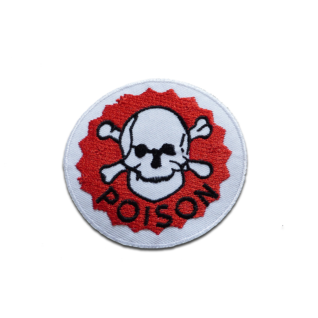 aufn her b gelbild poison gift warnung logo rot 7 cm by catch the patch patch. Black Bedroom Furniture Sets. Home Design Ideas