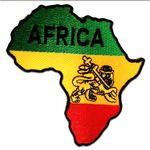 Aufnäher / Bügelbild - Afrika Flagge Fahne - gelb - 8,5 x 9 cm - by catch-the-patch® Patch Aufbügler Applikationen zum aufbügeln Applikation Patches Flicken