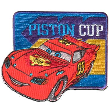 """Iron on patches gray CARS 2 /""""FINN MCMISSILE/"""" Disney 7,6 x 4,6 cm Applica"""