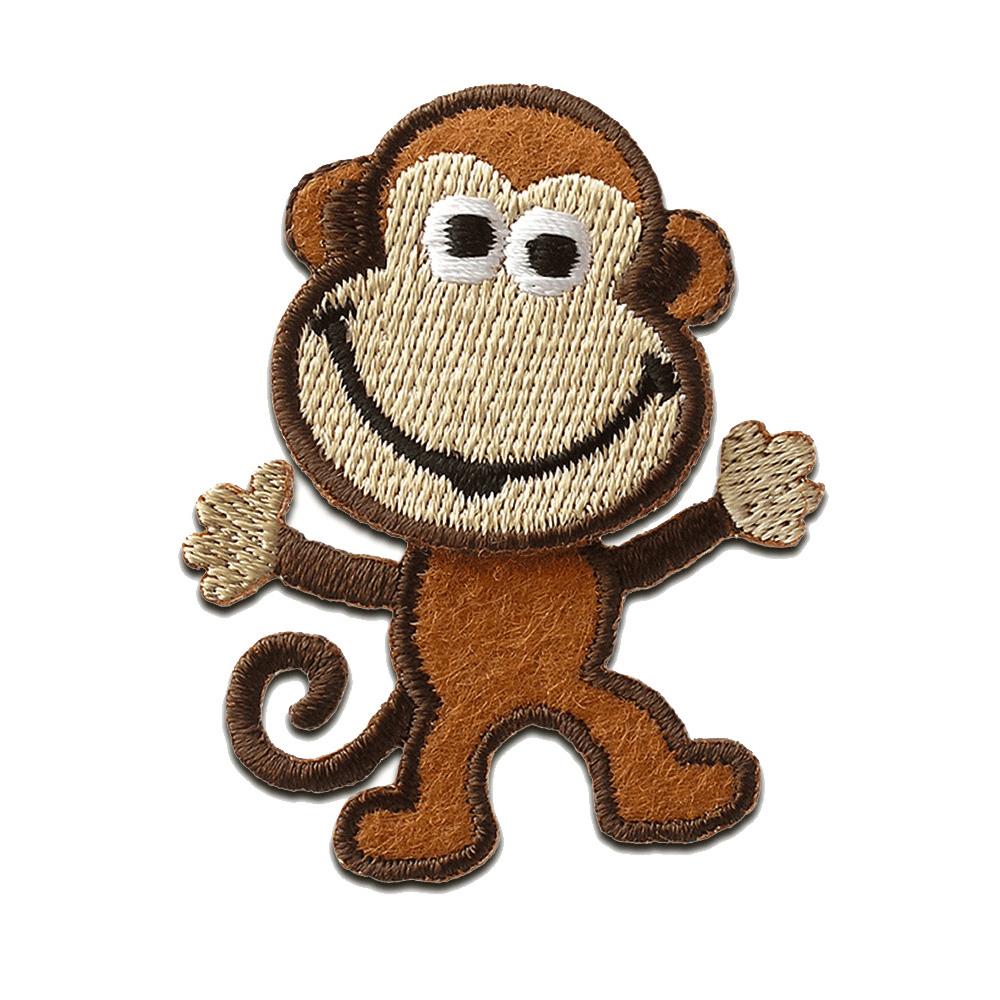 Aufnäher // Bügelbild braun Teddy Bär Kinder Patches Aufbügeln 4 x 5 cm