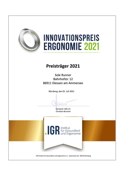 Innovationspreis Ergonomie 2021
