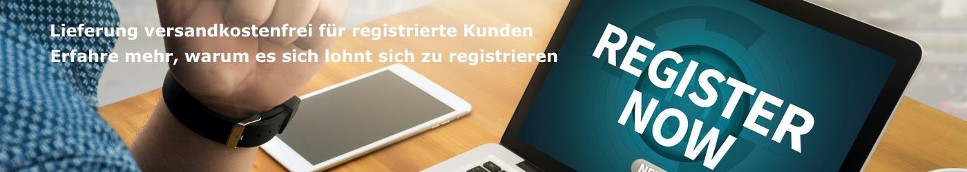 Registrieren und sparen