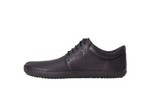 Kari Black Plain Leather Unisex – Bild $_i
