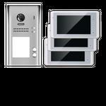 Video Türsprechanlage Klingelanlage mit 3 Monitoren DT602D und DT27W 001