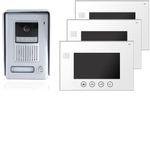 Video Türsprechanlage 4-Draht VT35 + 3x VT670 aus Edelstahl mit Kamera