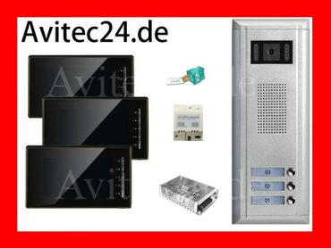 3-FAMILIENHAUS VIDEO TÜRSPRECHANLAGE 3xDT6910 SONY CCD