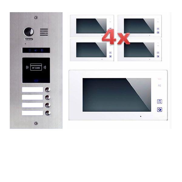 4 familienhaus video t rsprechanlage klingel gegensprechanlage. Black Bedroom Furniture Sets. Home Design Ideas