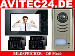 VIDEO TÜRSPRECHANLAGE DT591 + 3x DT6914 SONY BILDSPEICHER TOUCHSCREEN