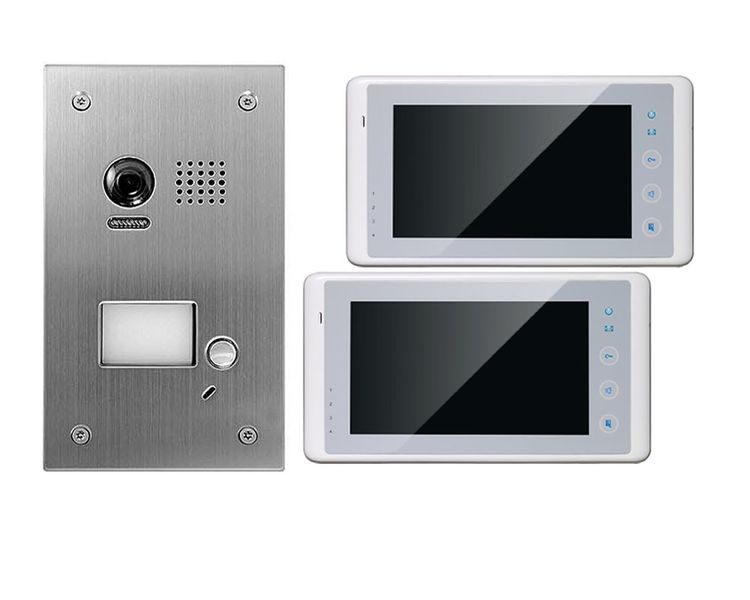2 draht 2x 7 tft dt27w dt603f video t rsprechanlage touchscreen klingel. Black Bedroom Furniture Sets. Home Design Ideas