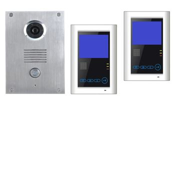 Edelstahl Video Türsprechanlage Klingel mit Kamera VT55+2xVT39 SONY CCD