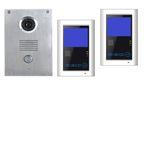 Edelstahl Video Türsprechanlage Klingel mit Kamera VT55+2xVT39 SONY CCD 001