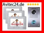 "VIDEO TÜRSPRECHANLAGE TÜRSPION 3 x7"" MONITORE-Touchscreen EDELSTAHL SONY Kamera"