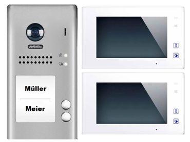 2-Familienhaus Video-Türsprechanlage Klingelanlage Sprechanlage mit Video&Bildspeicher