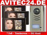 VIDEO TÜRSPRECHANLAGE DT591 + 3x DT27B SONY CCD mit Touchscreen 001