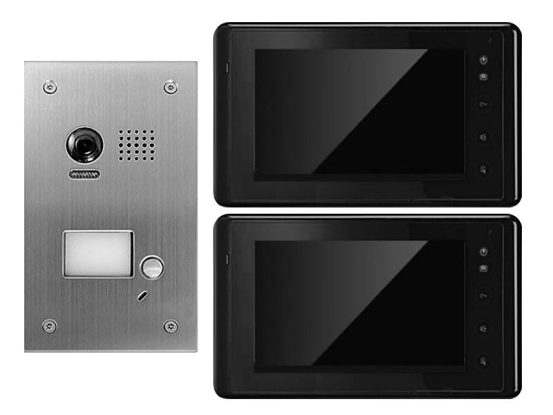 t rsprechanlage gegensprechanlage mit kamera mit 2 monitoren 170 grad. Black Bedroom Furniture Sets. Home Design Ideas
