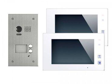 DT603+ 2x DT47M-W Video Türsprechanlage Klingelanlage Kamera 2-Familienhaus Unterputz