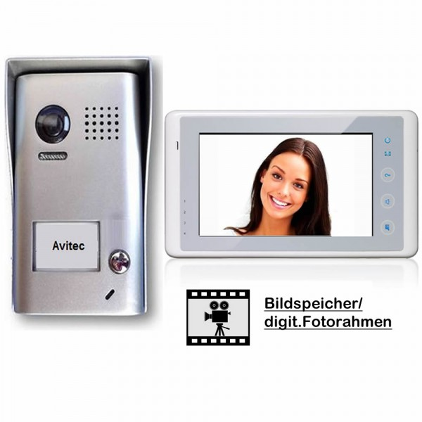 dt602 dt27w komb videosprechanlagen gegensprechanlagen klingel mit kamera monitor. Black Bedroom Furniture Sets. Home Design Ideas