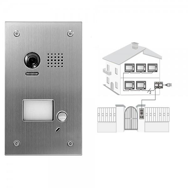 2 draht video t rsprechanlage gegensprechanlage 2x 7. Black Bedroom Furniture Sets. Home Design Ideas