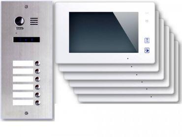 6-Familienhaus Sechsfamilienhaus Video Türsprechanlage ES6 + 6x DT47W