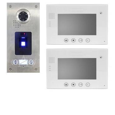 Video Türsprechanlage Fingerprint 2-Familienhaus Zweifamilienhaus VT670W-Weiss