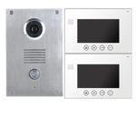Türsprechanlage mit Kamera VT551 + 2xVT670W-Weiss