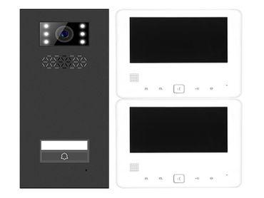 Türsprechanlage Einfamilienhaus Türstation XD-1 + 2x Monitor XD-7 Anthrazit
