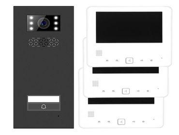 Türsprechanlage Einfamilienhaus Türstation XD-1 + 3x Monitor XD-7 Anthrazit