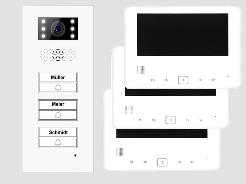 t rsprechanlage 3 dreifamilenhaus t rstation xd3 3x monitor xd7. Black Bedroom Furniture Sets. Home Design Ideas