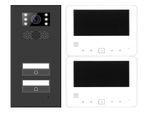 Türsprechanlage 2-Zweifamilienhaus Türstation XD2 + 2x Monitor XD7 Anthrazit 001