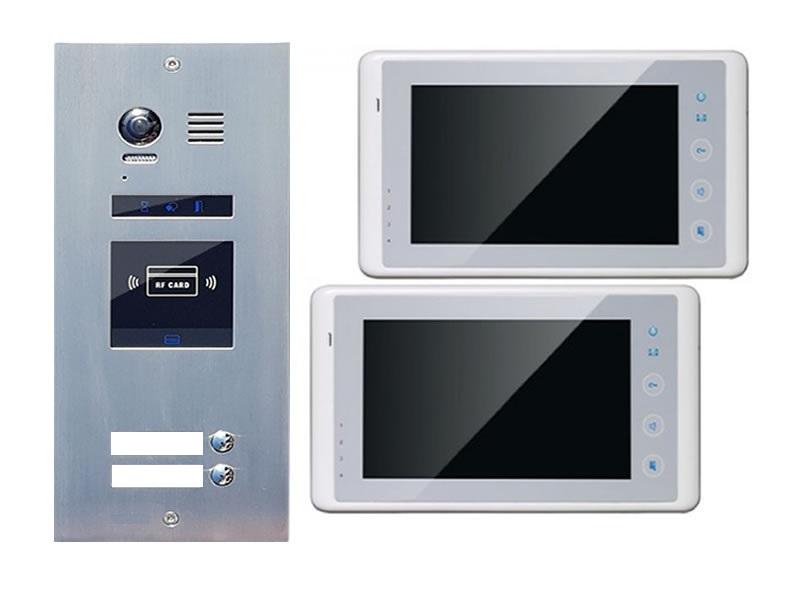 t rklingelanlage 2 familienhaus es2id 2xdt27w touchscreen. Black Bedroom Furniture Sets. Home Design Ideas