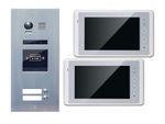 Türklingelanlage 2-Familienhaus ES2ID + 2xDT27W Touchscreen 001