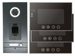Fingerprint Anthrazit Video-Türsprechanlage VT56 + 3x VT670 mit Sensortasten  001