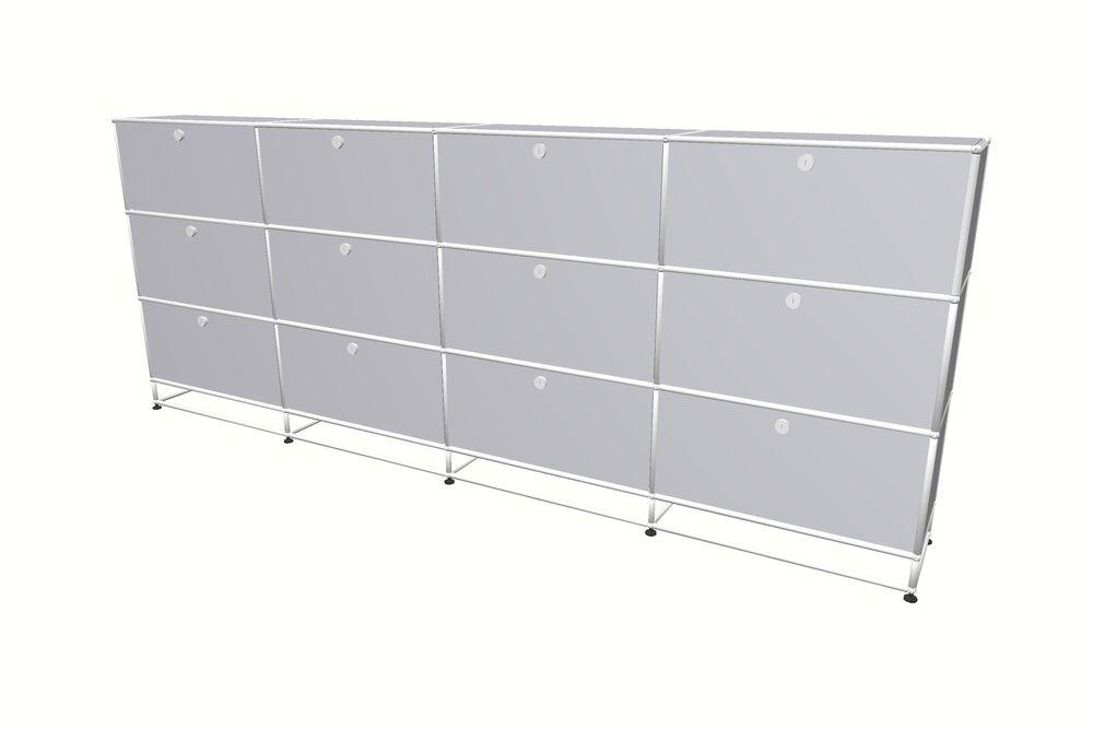 USM Haller Highboard 3000 mit 12 Klapptüren und Sockel – Bild 9