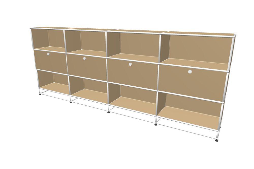 USM Haller Highboard 3000  mit 4 Klapptüren und Sockel – Bild 3