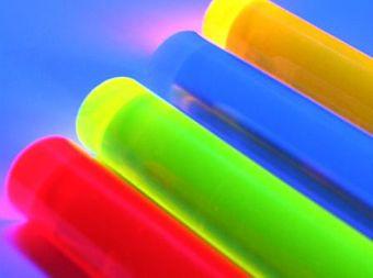 LISA fluoreszierender Acrylglas Rundstab blau 10mm