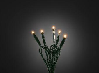 Microlichterkette - LED Pure - Indoor - 3,43m - 50 x Ultra Warmweiß - Grünes Kabel - Strang