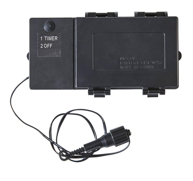 Batteriefach | Serie LED | Outdoor | Schwarzes Kabel | Timer ...