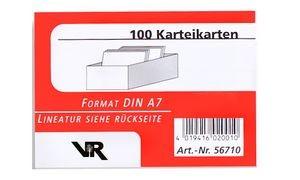 Karteikarten A7, liniert, rot, Inhalt: 100
