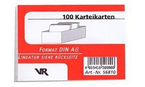 Karteikarten A8, kariert, weiss, 190 g/qm