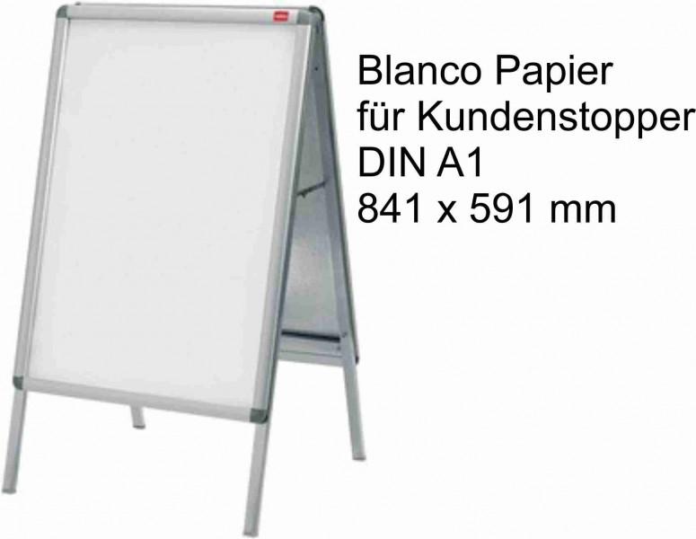 Papier Karton Din A1 170g Weiss Passend Für Gehwegaufsteller